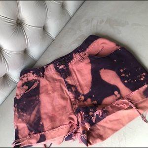 Wrangler Vintage Pink Purple Tie Dye Shorts sz M